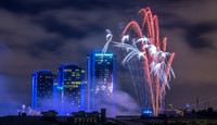 Gothia Towers with fireworks